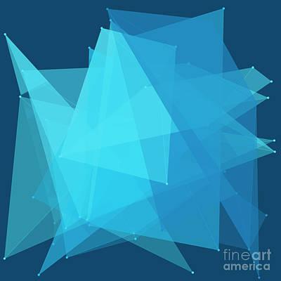 Vector Digital Art - Deep Sea Polygon Pattern by Frank Ramspott