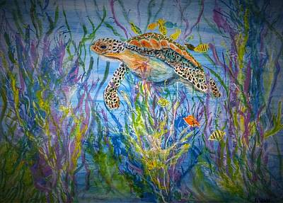 Painting - Deep Sea Turtle by Anne Sands