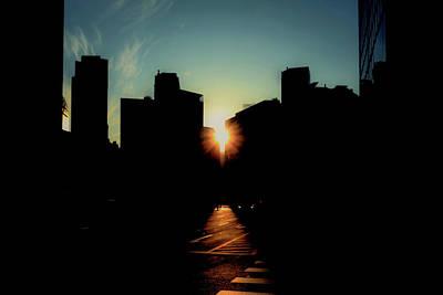 City Sunset Photograph - Deep Shadow by Hyuntae Kim