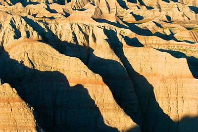 Photograph - Deep Shadows In The Badlands by Polly Castor
