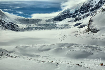Photograph - Deep Sky Blue Over The Athabasca Glacier by Adam Jewell