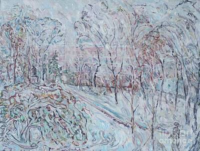 Painting - Deep Snow In Strastnoy Boulevard by Anna Yurasovsky