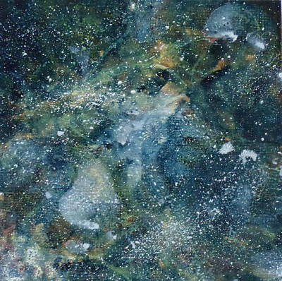 Deep Space Blue/green #1 Art Print by Adrienne Martino