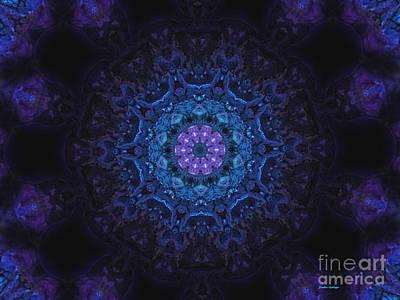 Deep Space Art Mixed Media - Deep Space Mandala by Sandra Gallegos
