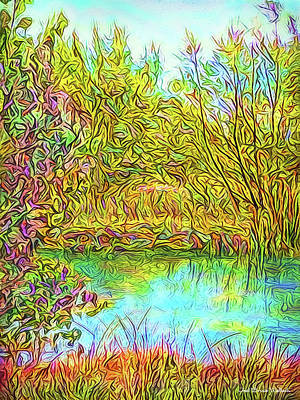 Digital Art - Deep Stillness Reflections by Joel Bruce Wallach