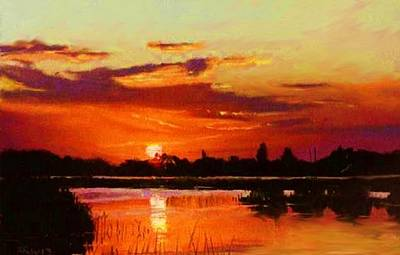 Painting - Deep Sunset by Joseph Barani