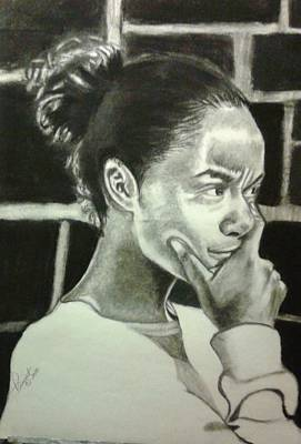 Drawing - Deep Thinking by Phyllis Anne Taylor Pannet Art Studio