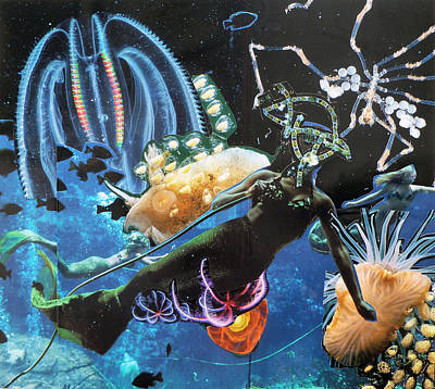 Deep Art Print by Tom Calderon