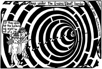 Trippy Maze Art Painting - Deep Under The Gaza Border. By Yontan Frimer by Yonatan Frimer Maze Artist