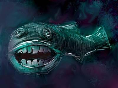 Digital Art - Deep Water Makes Me Crazy by Jim Vance
