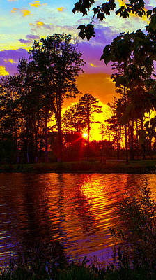 Photograph - Deep Water Sunset by Jeff Kurtz