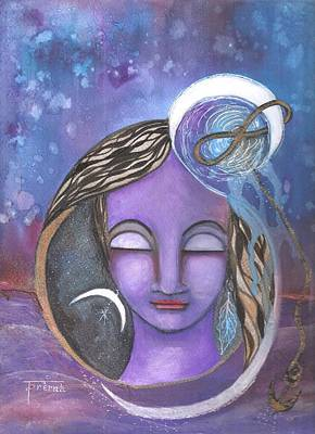 Art Print featuring the mixed media Deep Within by Prerna Poojara