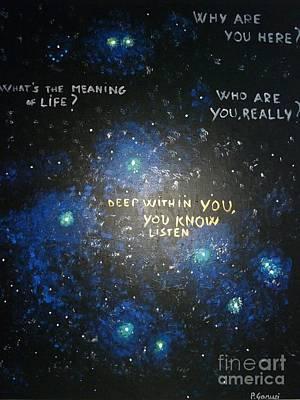 Deep Within You Art Print by Piercarla Garusi
