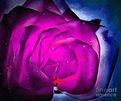 Roses Digital Art Photograph - Deep Within Your Heart by Krissy Katsimbras