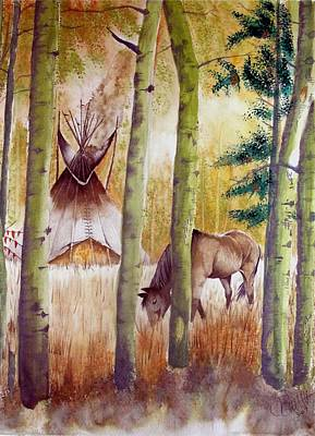 Painting - Deep Woods Camp by Jimmy Smith