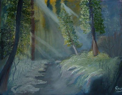 Painting - Deep Woods Dry Gulch by Rod Jellison