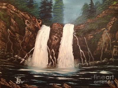 Deep Woods Waterfall Original by Tim Blankenship