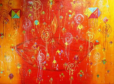 Pietyz Contemporary Art Painting - Deepawali In India by Piety Dsilva
