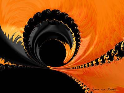 Digital Art - Deeper Dark The Soul by Riana Van Staden