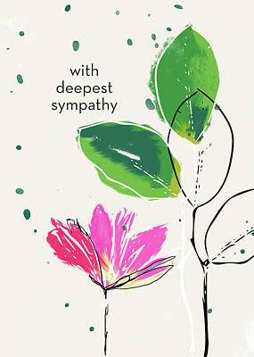 Mixed Media - Deepest Sympathy Daisy- Art By Linda Woods by Linda Woods
