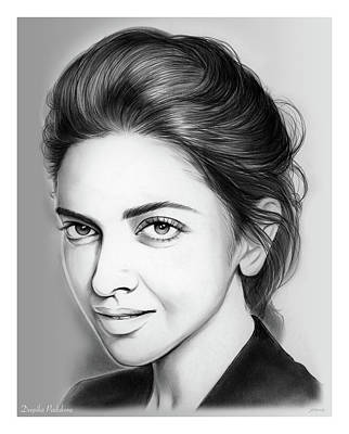 Drawing - Deepika Padukone by Greg Joens