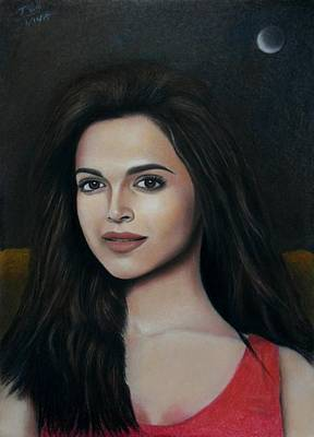 Painting - Deepika Padukone - The Enigmatic Expression by Vishvesh Tadsare