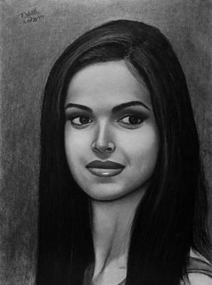 Drawing - Deepika Padukone by Vishvesh Tadsare