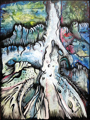 Root Painting - Deeply Rooted IIi by Shadia Derbyshire