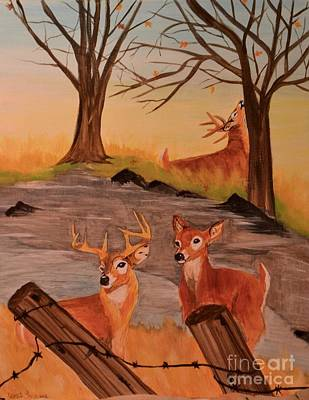 Painting - Deer 4 Sean by Denise Tomasura