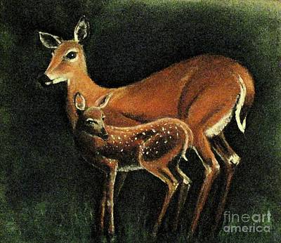 Pastel - Gentle Deer by Hazel Holland