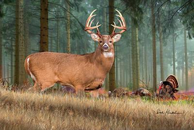 Deer Painting - Deer Art - Heartbeat Of America by Dale Kunkel Art