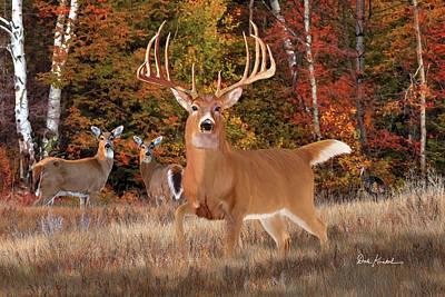 Deer Art - King Of Bucks Art Print by Dale Kunkel Art