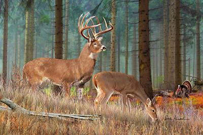 Whitetail Painting - Deer Art - The Guardian II by Dale Kunkel Art