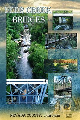 Digital Art - Deer Creek Bridges by Lisa Redfern
