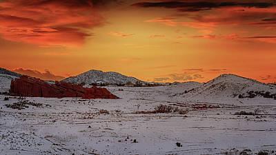 Photograph - Deer Creek Canyon Sunset by Susan Rissi Tregoning