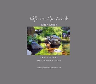 Digital Art - Deer Creek Ferns - White Text by Lisa Redfern