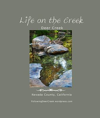 Confluence Digital Art - Deer Creek Point - White Text by Lisa Redfern