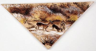 Painting - Deer Crossing Two by Richard Jules