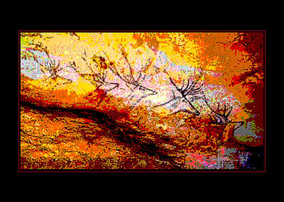 Painting - Deer Dawn by Angela Treat Lyon