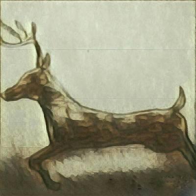 Painting - Deer Energy by Margaret Welsh Willowsilk