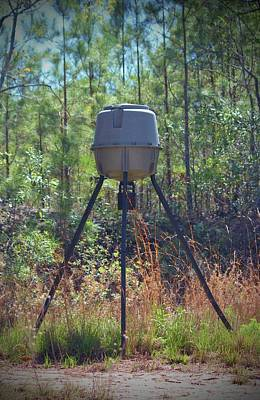 Photograph - Deer Feeder by Cynthia Guinn