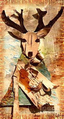 Painting - Deer by France Laliberte