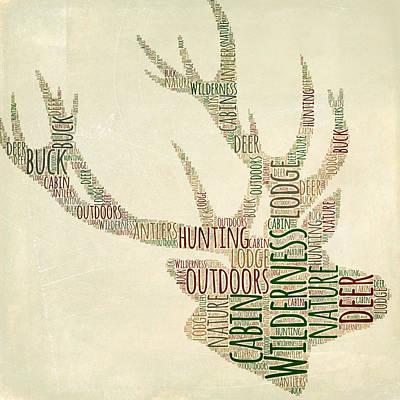 Digital Art - Deer Head by Brandi Fitzgerald