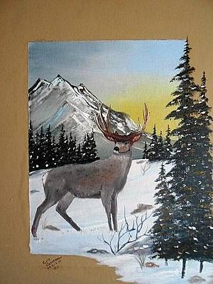 Painting - Deer Hunter's Dream by Al  Johannessen