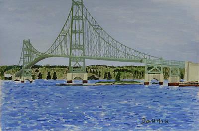 Deer Isle Bridge, Stonington Maine Print by David Malia