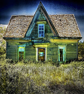 Photograph - Deer Isle Haunted House by Gary Shepard