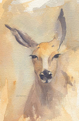 Painting - Deer by John Holdway