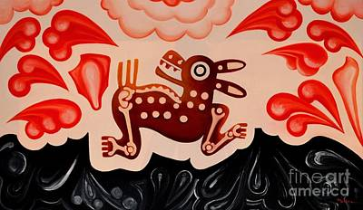 Mexicano Painting - Deer by Jose Luis Montes
