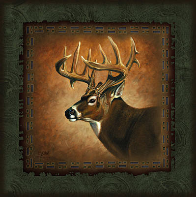 Antlers Painting - Deer Lodge by JQ Licensing