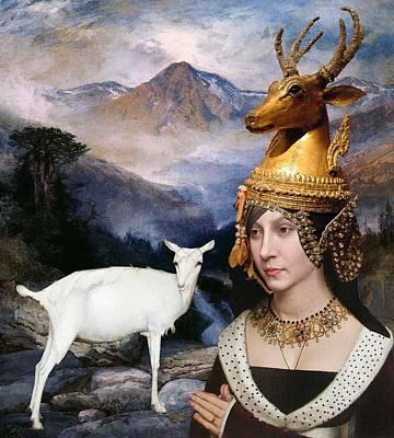 Deer Medicine Woman Art Print